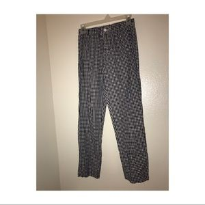 Gingham Stretchy Patterned Pants
